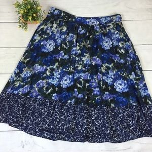 Adrianna Papell Watercolor Floral Skirt